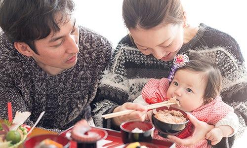 お食い初め(百日祝い)写真事例