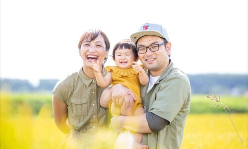 家族写真の撮影例