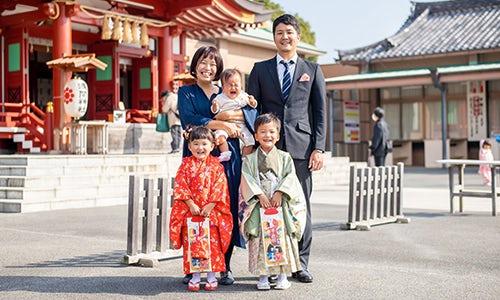 七五三の家族写真事例