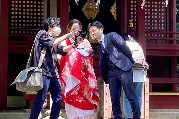 お宮参り-出張撮影風景2