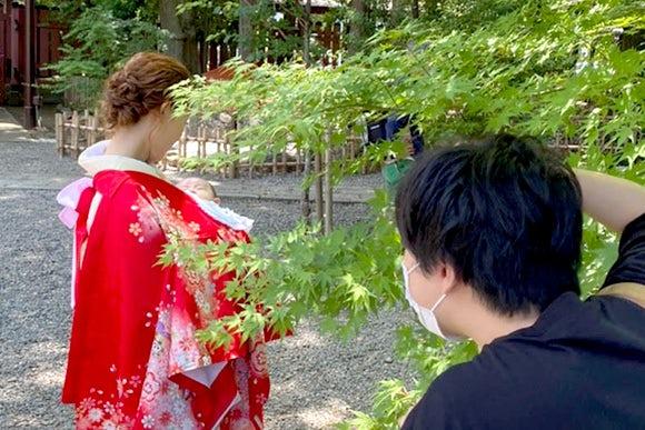 大学卒業・卒業袴-出張撮影風景3
